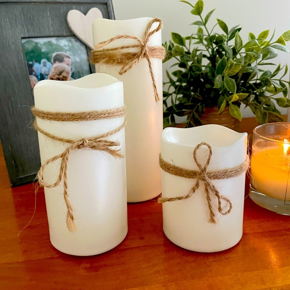 Pottery Barn Electric Candles (set of 3)